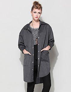 995a2b50bdf2 fashion-clothing-06-14-17-06-20-17. LUTING® Γυναικεία Κολάρο Πουκαμίσου  Μακρύ Μανίκι Πουκάμισο ...