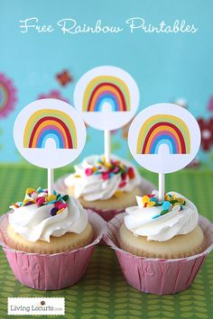 Free Rainbow Party Printables at LivingLocurto.com