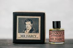 """""""The power of doing any thing with quickness is always much prized by the possessor, and often without any attention to the imperfection of the performance""""  — Jane Austen (Pride and Prejudice). """"Mr Darcy"""" - Myrrh, Pine Needle, Cedarwood & Tea Tree."""