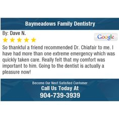 So thankful a friend recommended Dr. Chiafair to me.  I have had more than one extreme...