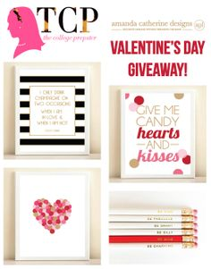 Amanda Catherine Designs has teamed up with The College Prepster for a BIG Valentine's Day GIVEAWAY!