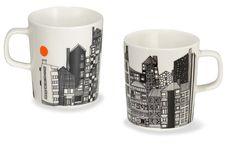 marimekko mugs. love the tiny orange sun.