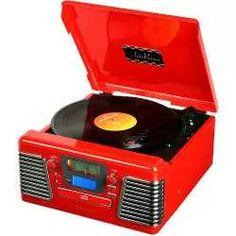 toca discos retro autorama vermelho 33.837 - classic