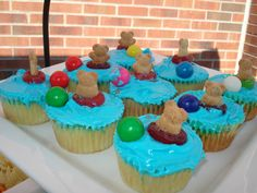 Pool Party cupcakes- this is after the fall- but super cute still