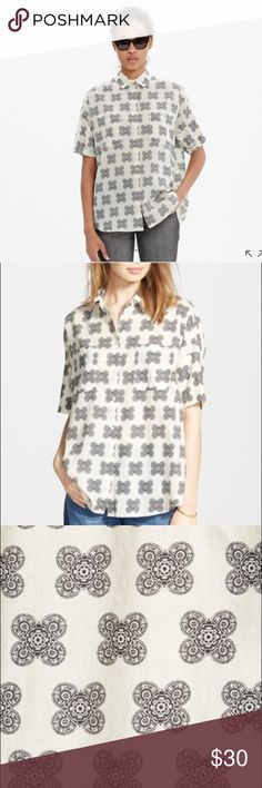 ddaf7dabcb5391 Madewell Courier Short Sleeves Clover Shirt