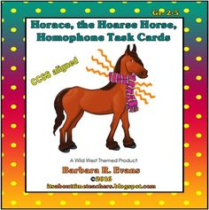 Fun, challenging task cards require kiddos to find homophone pairs from clues.  Great for vocab. dev. & HOTS.  A Wild West theme product.  $