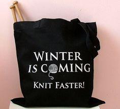 El invierno está llegando.  ¡Teje más rápido! / https://www.etsy.com/es/listing/121523763/se-acerca-el-invierno-tejido-tejer-mas?ref=market