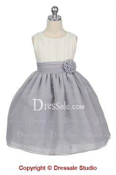 Bowtie Chiffon Flower Girl Dress