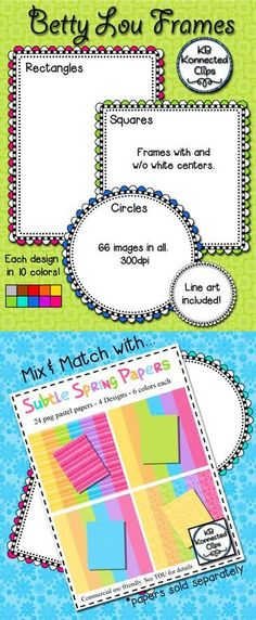 Betty Lou Digi Frames $ https://www.teacherspayteachers.com/Product/Betty-Lou-Digi-Frames-1768019