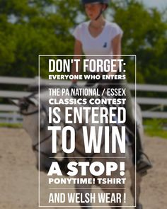 Want to win a Stop! Ponytime! Tshirt from @theplaidhorsemag and Welsh Wear!!?? Well enter the @pa_nationalhs / @essexclassics contest and you could not only win our prizes but also an @essexclassics show shirt!