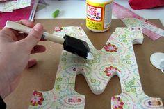 DIY Mod Podge Wooden Letters - The Scott Life