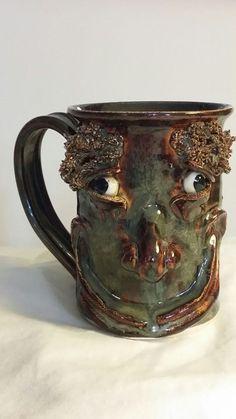 TB Pots Funny Ugly Face Mug Maine studio art pottery stoneware Pottery Mugs, Pottery Art, Face Mug, Ugly Faces, Studio Art, Art Studios, Being Ugly, Stoneware, Maine