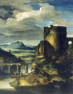Theodore Gericault Paysage Classique: Matin Date unknown Romanticism Italy In October, Rome, Jean Leon, Oil On Canvas, Canvas Prints, Photography Tags, Sistine Chapel, Paris Ville, Art Database