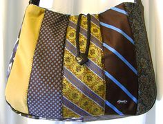 Queen of the Surface Streets - Recycled Necktie Messenger Bag | Flickr - Photo Sharing!