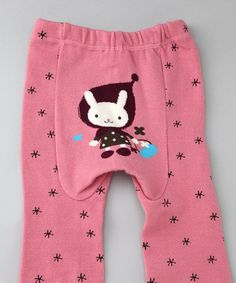 This Pink Polka Dot Bunny & Basket Pants - Infant is perfect! #zulilyfinds