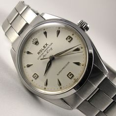 Rolex Oyster Perpetual Air King Super Precision Ref 5500 Steel Vintage Wristwatch Dated 1964 Rolex Oyster Perpetual Air-King Super Precision Ref. 5500 vintage wristwatch, dated Steel automatic watch with Rolex Oyster bracelet, calibre 1530 Mens Dress Watches, Rolex Watches For Men, Best Watches For Men, Fossil Watches, Analog Watches, Panerai Watches, Men's Watches, Stylish Watches, Cool Watches