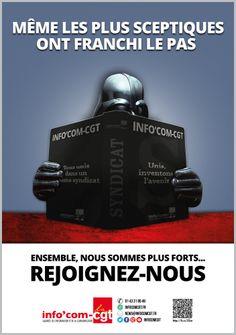 Affiche : Même les plus sceptiques ont franchi le pas - Info'Com-CGT