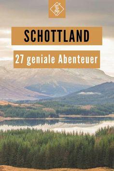 Für deinen nächsten Roadtrip ist Schottland wegen seiner abwechslungsreichen Sehenswürdigkeiten das perfekte Ziel! Diese 27 besten Sehenswürdigkeiten machen dir die Entscheidung noch leichter. Besteige Ben Nevis, den höchsten Berg des Vereinigten Königreichs, oder besichtige das legendäre Loch Ness, in dem der Legende nach das Ungeheuer Nessie sein Unwesen treibt. Schottland Landschaft I Schottland Reise I Schottland Route I Schottland Bilder #offthepath #schottland Fairy Pools, Reisen In Europa, Inverness, Bergen, Nature, Movies, Movie Posters, Travel, Scotland Places To Visit