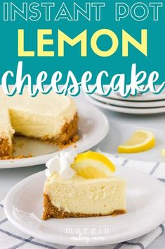 This creamy Instant Pot cheesecake boasts the bright flavor of lemon in a cool and refreshing dessert! Healthy Desserts, Easy Desserts, Delicious Desserts, Dessert Recipes, Graham Cracker Crumbs, Graham Crackers, Pressure Cooker Desserts, Cheesecake Pan, Impressive Desserts