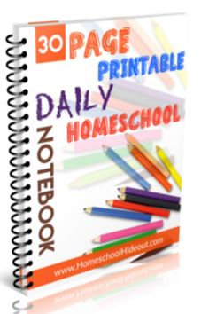 I've gotta check out this a wesome set of printables for your homeschool daily notebook or journal! Get it FREE for a limited time!