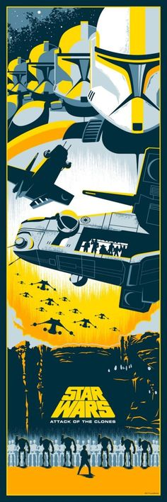 Eric Tan Star Wars Prequel Prints - Attack of the Clones