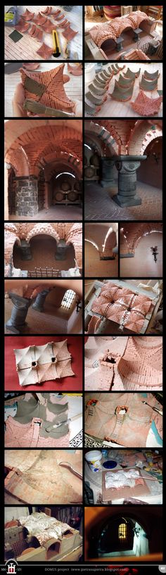 Domus project 032: Connection between arches and vaults http://pietrasupietra.blogspot.com/2012/09/construction-32-connection-between.html  The Domus project is the construction in scale 1:50 of an imaginary medieval palace. It's made of clay, stones, slate, wood and other construction materials in the style of rich genoese buildings from the middle of XIV century.