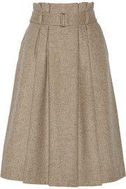 By Malene BirgerLollila pleated wool-blend skirt