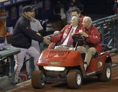 Game 4 of the NLCS- Stan The Man Musial is in the house tonight  10-18-12
