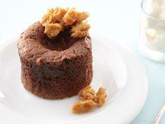 Fondant au chocolat et fromage frais, cacahuètes au caramel - Recettes