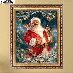5D Diamond Painting Cross Stitch Pattern Diamond Embroidery Christmas Santa Claus,Mosaic Full Drill Home Decor DIY Painting #ChristmasDecor