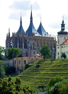St. Barbara Cathedral, Kutna Hora, Czech Republic - another view.