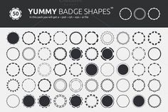 Grab this Yummy Set of 50 Badge Shapes, you can use in your Web & Graphic Design projects. Item - Yummy Badge Shapes (Set of 50 Yummy Badges) Files Included Photoshop Shapes, Vector Shapes, Graphic Design Projects, Textures Patterns, Light In The Dark, Your Design, Messages, Photo Effects, Dividers
