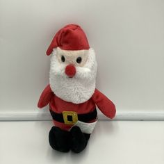 """Greenbrier Plush Santa Clause 9"""" Stuffed Animal Soft Toy Red Christmas #Greenbrier"""
