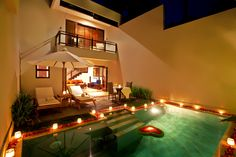 Villa 1 bedroom with honeymoon decoration..
