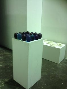 This is what I did with the candy, the installation. Some experiments in plaster in the background. July 2014