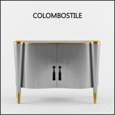 COLOMBOSTILE   An amazing sideboard in grey and gold   www.bocadolobo.com #luxurycabinet