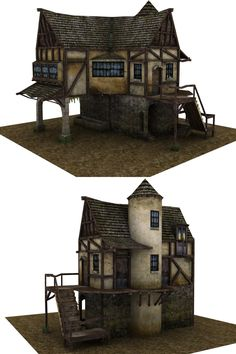 Medieval house by ricolas71.deviantart.com on @deviantART