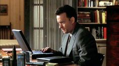 Joe (Tom Hanks) ~ You've Got Mail (1998) ~ Movie Photos #amusementphile