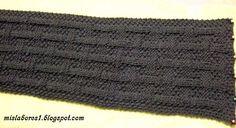 Esta bufanda la he encontrado en Internet, me ha gustado mucho entonces he sacado el patrón de los puntos, creo que es mas o menos ...