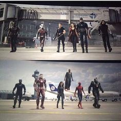"""Captain America Civil War """"they're not slowing down"""" """"neither are we"""""""