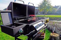Met de BBGrill Grand Canyon kun je oneindig variëren met je gerechten. Deze barbecue geeft je de mogelijkheid te koken op gas, houtskool, in een rookoven of op een zijbrander.