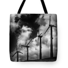 "Cloud Blowers Tote Bag 18"" x 18"""