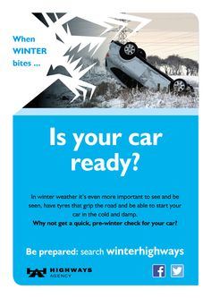 Check your car is ready before winter - or at least before the bad weather sets in  (crash version)