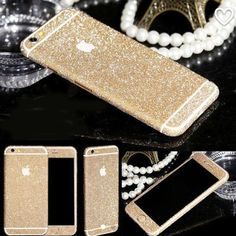 Gold glitter decal New. Very cute and very sparkly. Gold glitter decal. Fits iPhone 6 plus Accessories Phone Cases