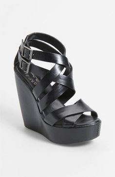 These are too cute... strap it up. Kork-Ease™ Kork-Ease 'Hailey' Wedge Sandal available at #Nordstrom