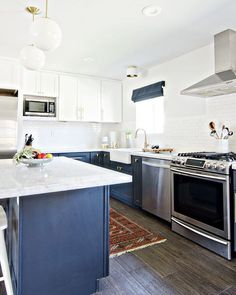 Another Shot Of This Bright White Kitchen Remodel By @brittanymakes Using  Allways Tile In Color Pier On The Floors! Wood Look Tile Is The Perfect Way  To ...