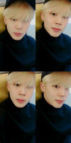 Jimin ❤ [Bangtan Video Tweet]  #JIMIN (Jimin always takes a video of him just starring into my soul.. iTS TIME TO STOP!!! LMAO) #BTS #방탄소년단