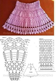 Crochet skirts, Crochet and Patterns If you are looking for a pattern to make a crochet skirt for your kid, you can use this one. Crochet skirts are very stylish and pretty. Débardeurs Au Crochet, Crochet Diagram, Crochet Woman, Crochet Chart, Crochet For Kids, Crochet Solo, Filet Crochet, Crochet Summer, Crochet Stitches Patterns