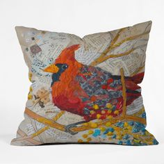 Elizabeth St Hilaire Nelson Cardinal Throw Pillow