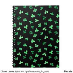 Clover Leaves Spiral Notebook